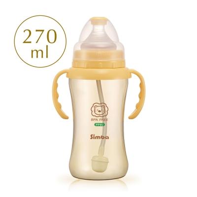 小獅王辛巴 PPSU自動把手寬口雙凹中奶瓶(270ml)