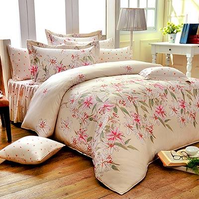 Saint Rose 愛戀之夢 雙人100%純天絲兩用被套床罩八件組