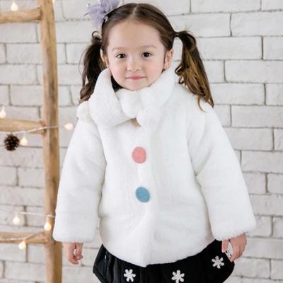 BEBEZOO 韓國 白色絨毛貓咪圍巾長袖外套