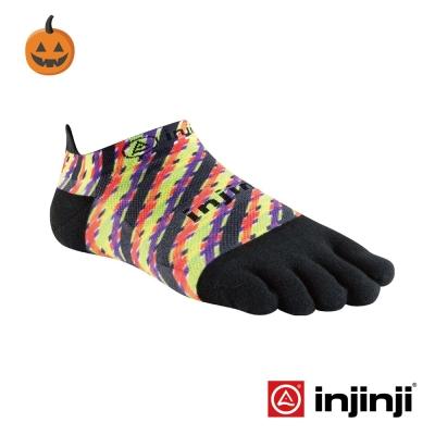 【Injinji】RUN 輕量吸排五趾隱形襪-萬聖彩條