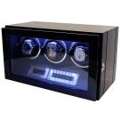 自動機械錶收藏盒/自動上鍊盒3只/鋼琴烤漆雙色款 /自動22/ LED燈/日本馬達/好物