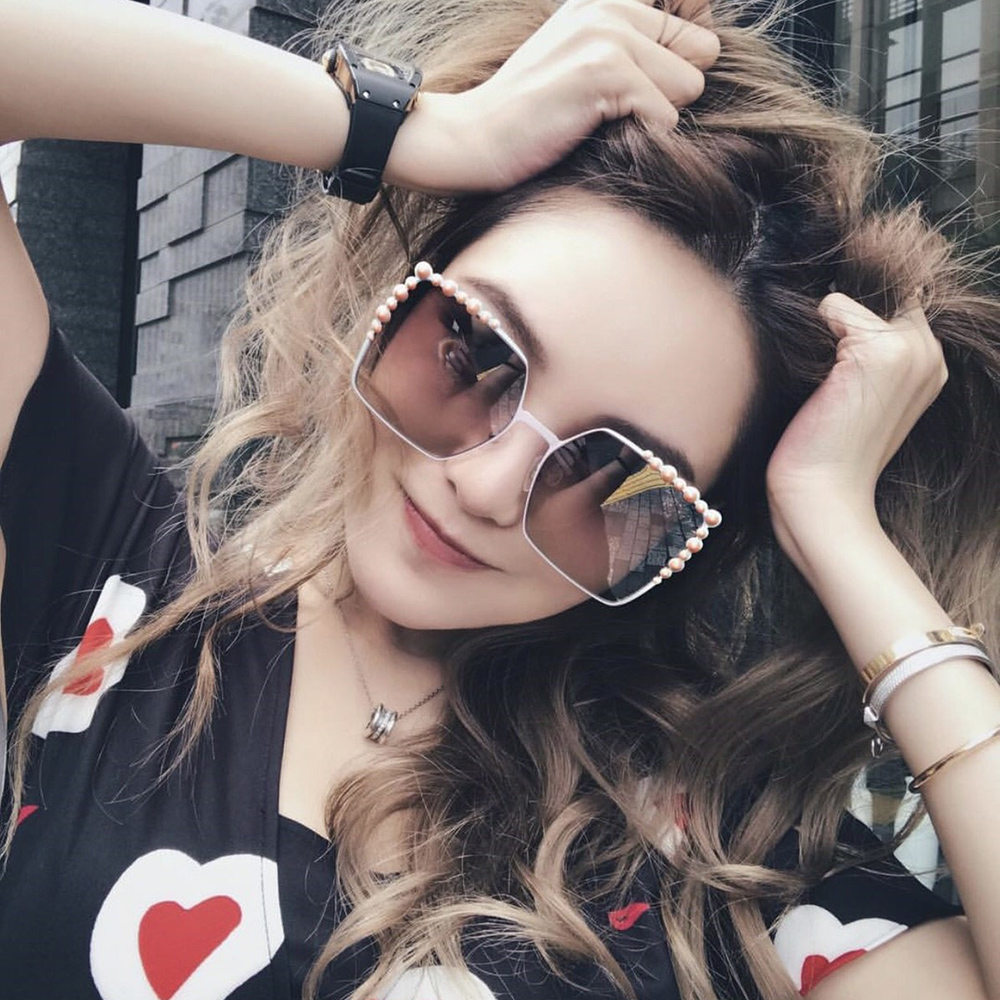 FENDI 廣告款 大方框 水銀 太陽眼鏡 (粉色)FF0259S-35J