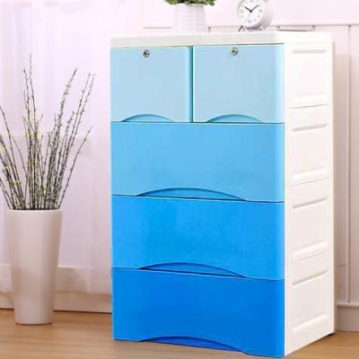 Amos-四層漸變色塑膠收納櫃