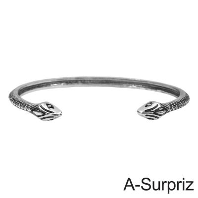 A-Surpriz  蛇蠍美人造型開口手環(銀色)