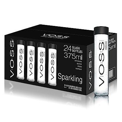 VOSS 芙絲 挪威氣泡水(375mlx24)-黑蓋玻璃瓶