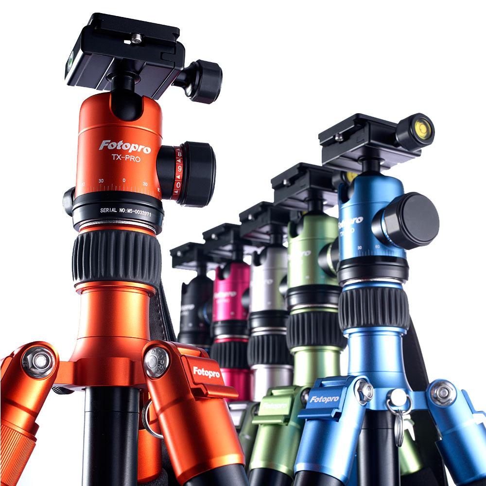 FOTOPRO TX-PRO2 鋁鎂合金 彩色三腳架(公司貨/共6色)