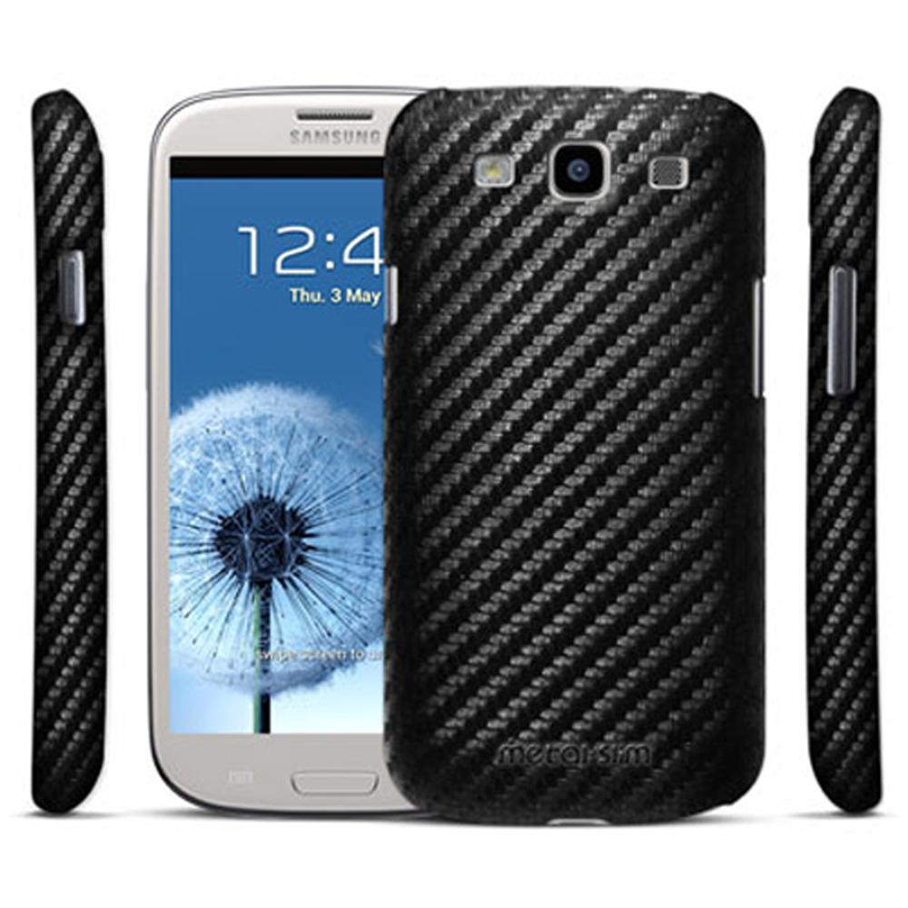 Metal-Slim Samsung Galaxy S3 卡夢貼皮保護殼