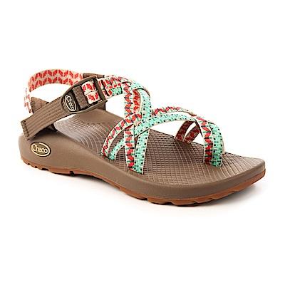 美國Chaco女越野運動涼鞋細織夾腳款CH-ZCW04HE46 (皇室松綠)
