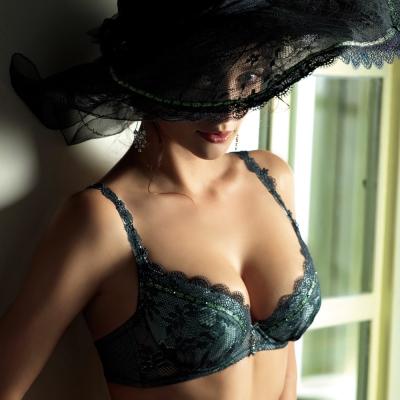 LADY 菲露莎系列 刺繡深線內衣 B-F罩(愛戀綠)