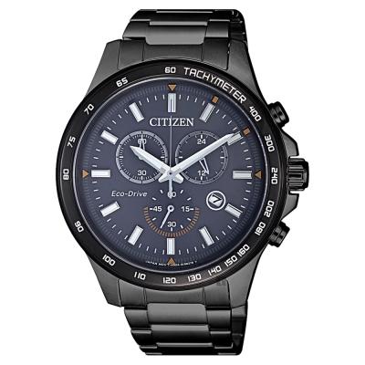 CITIZEN星辰 Chronograph 光動能計時手錶-鍍黑/42mm