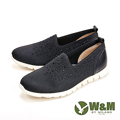 W&M 閃亮亮彈力輕量休閒女鞋-黑