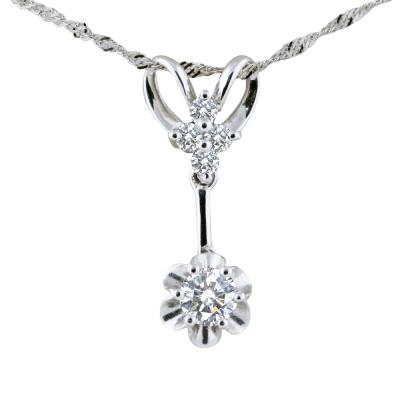 MANSTYLE 八心八箭0.30ct 美麗的笑靨鑽石墜子