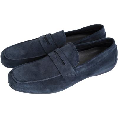 MORESCHI 仿舊麂皮樂褔鞋(男款/深藍色)