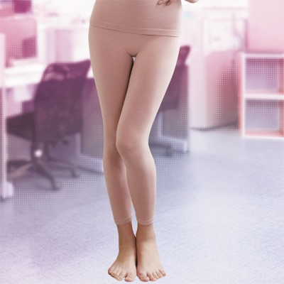 華歌爾 MODAL一枚兩役M-L保暖隨型長褲(時尚粉)