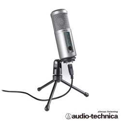 audio-technica 心型指向性電容式USB麥克風 ATR2500USB