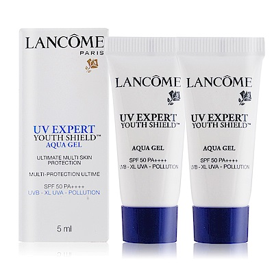 LANCOME蘭蔻 超輕盈UV水凝露SPF50 PA++++5mlX2