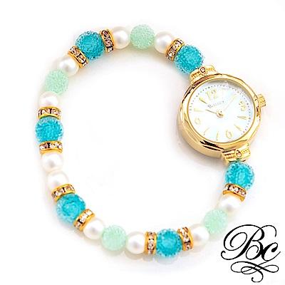 BELLUCY 珍珠甜心手環錶(湖水綠)