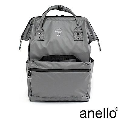 anello 霧光質感大口防水後背包 灰色 L尺寸