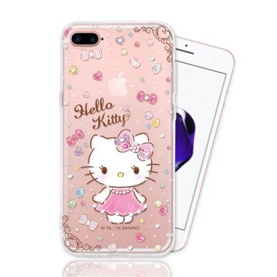 Hello Kitty iPhone 7/8 plus 彩繪空壓手機鑽殼 - 高...
