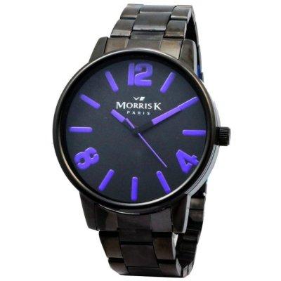 MORRIS K 擁你入夢潮流時尚腕錶-IP黑/紫-42mm