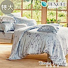 Tonia Nicole東妮寢飾 月葉浮影環保印染100%萊賽爾天絲被套床包組(特大)