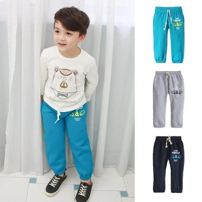 baby童衣 兒童休閒褲 棉褲 縮口刷毛抽繩鬆緊腰35181