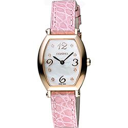 Standel 詩丹麗 優雅系列石英女錶-珍珠貝x玫塊金x粉/24mm