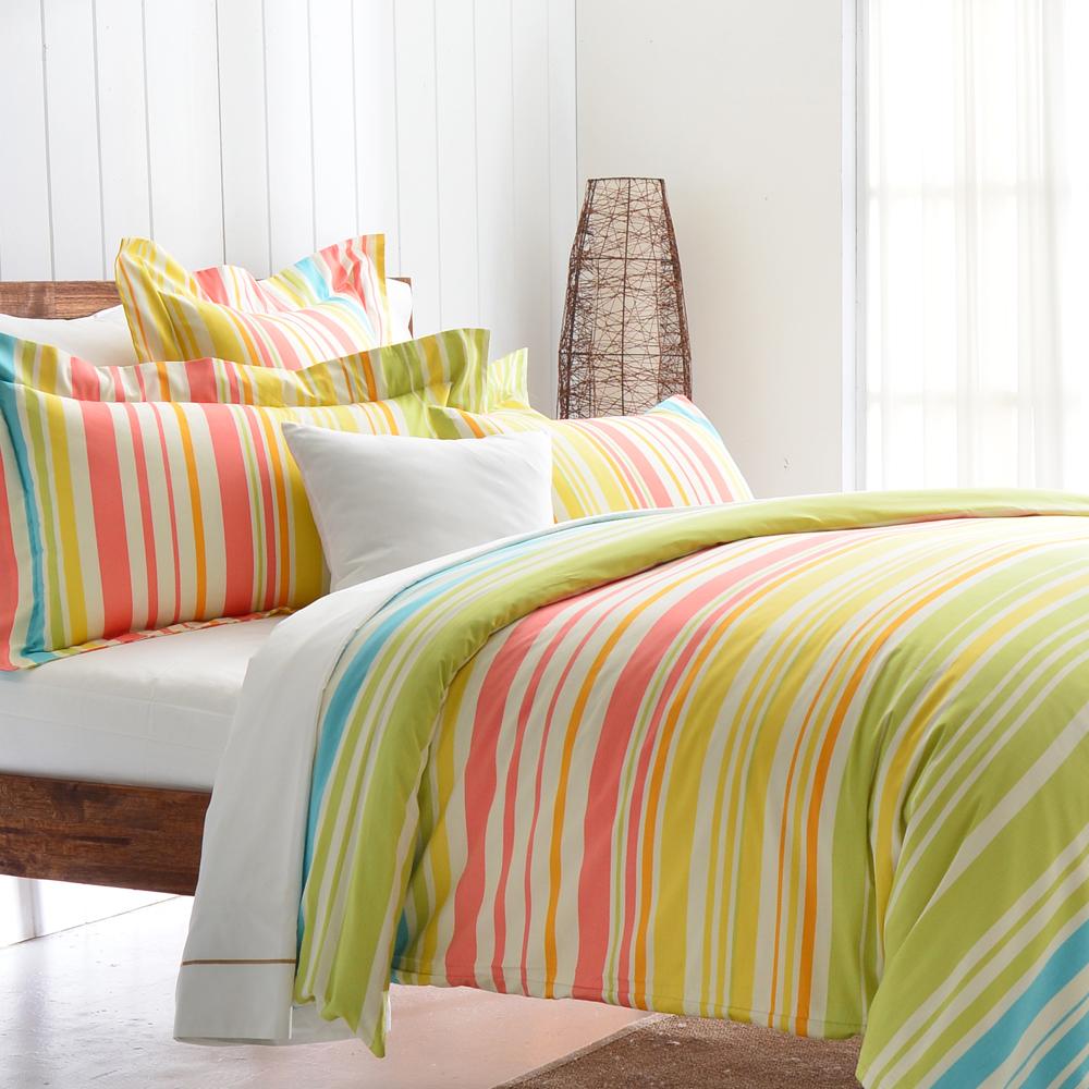 Cozy inn 舞曲-綠 200織精梳棉四件式被套床包組(雙人)