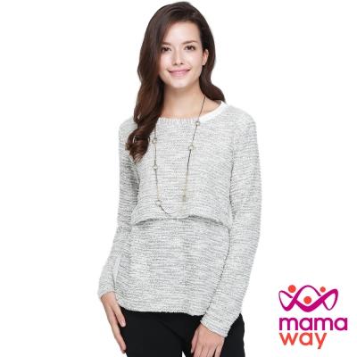 Mamaway 襯衫領造型孕哺假2件上衣(共二色)
