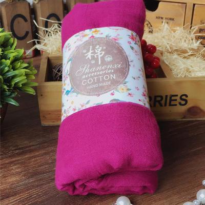 ACUBY-糖果風多層次搭配薄圍巾-桃紅