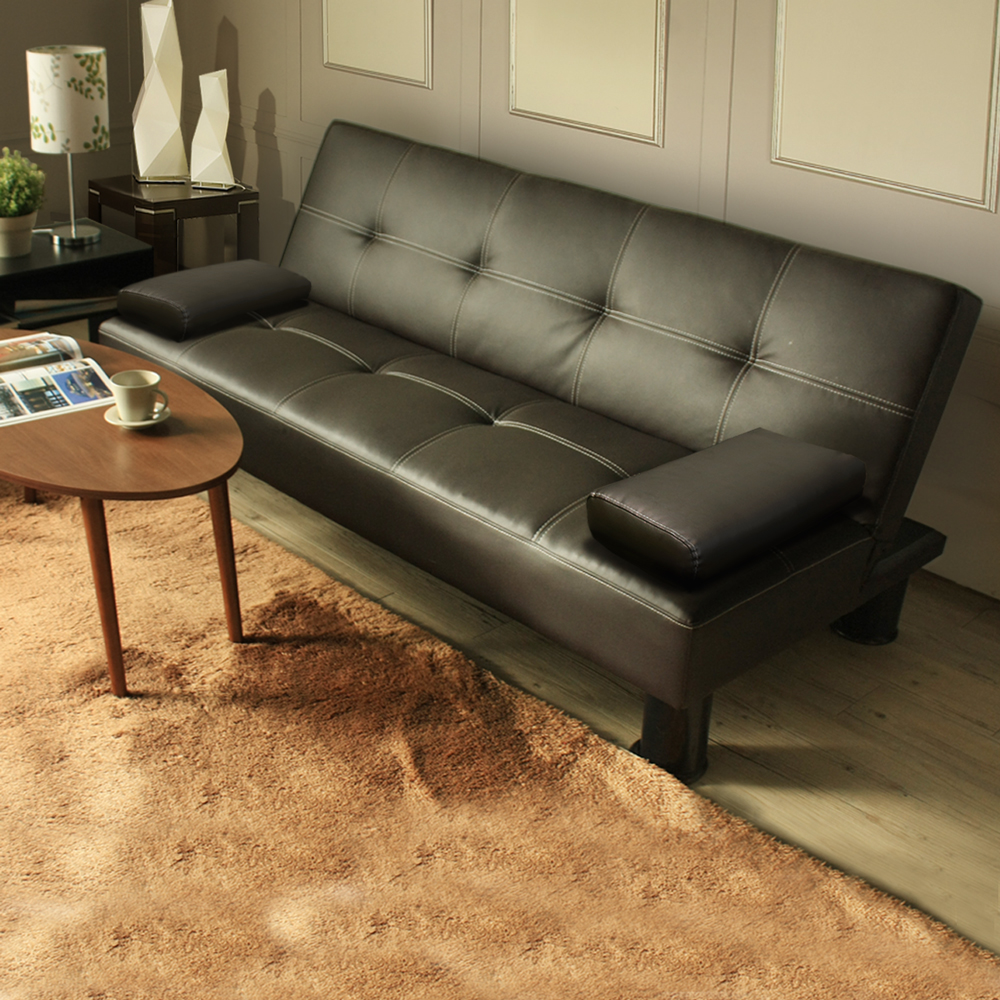 Matisse 瑪諦斯簡約皮質沙發床-咖皮