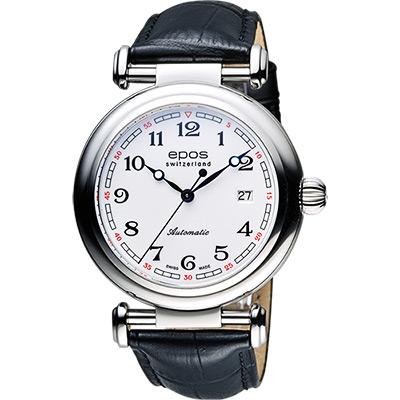 epos Originale 原創系列復刻版機械腕錶-白x黑/42mm