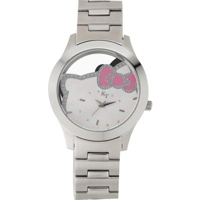 HELLO KITTY 凱蒂貓簍空俏麗手錶-白/38mm