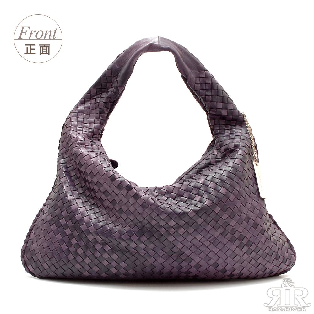 【2R】頂級訂製NAPPA羊皮手工梭織彎月包(薰衣紫系)