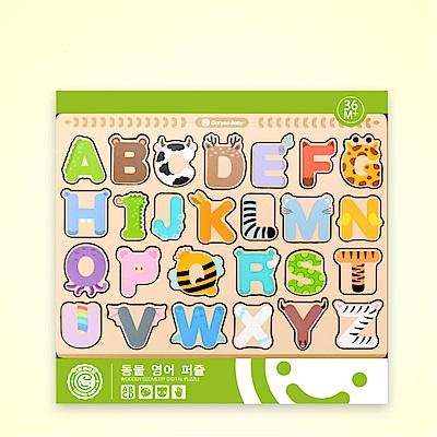 (經典木玩)動物字母學習拼圖(3Y+)