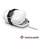 Twelve South Apple Watch 專用旅行真皮收納盒-白色