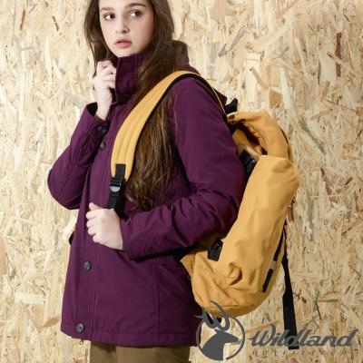 Wildland 荒野 0A32991-21紫紅色 女 RE防水PR棉風格外套