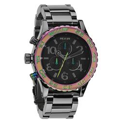 NIXON The 40-20 CHRONO 強眼魅力運動腕錶-彩框x黑/42mm