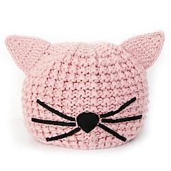 KARL LAGERFELD 粉紅貓咪帽