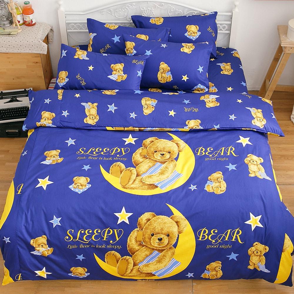 kokomos扣扣馬 鎮瀾宮大甲媽授權精梳棉205織紗新式兩用被雙人床包被套組 星月熊