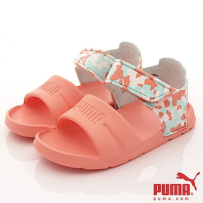 PUMA童鞋 超輕迷彩涼鞋款 TH65081-03迷彩桃(中小童段)