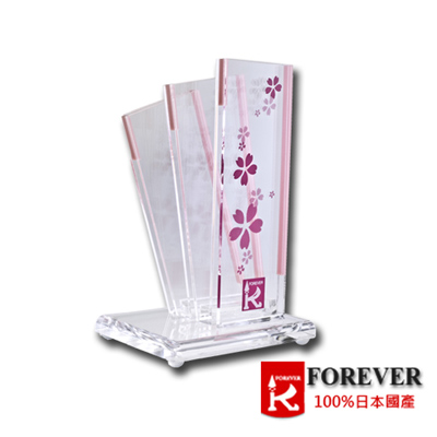 FOREVER日本製造鋒愛華精美水晶刀架
