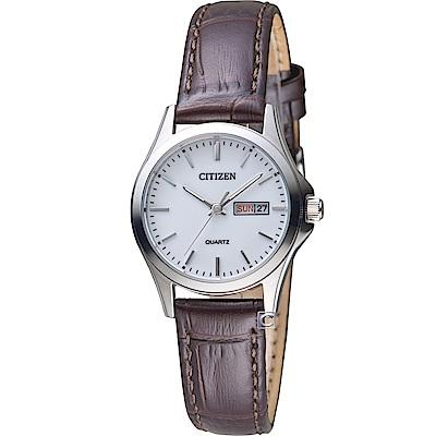 CITIZEN星辰極簡主義時尚腕錶(EQ0591-21A)-28mm