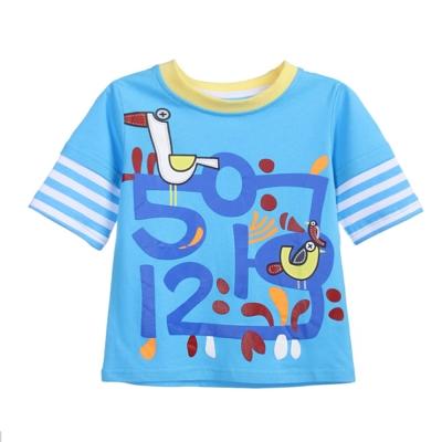 上衣 男童 數字鳥 歐美經典兒童純棉短袖T恤