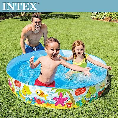 INTEX 免充氣幼童戲水游泳池152x25cm(56451)