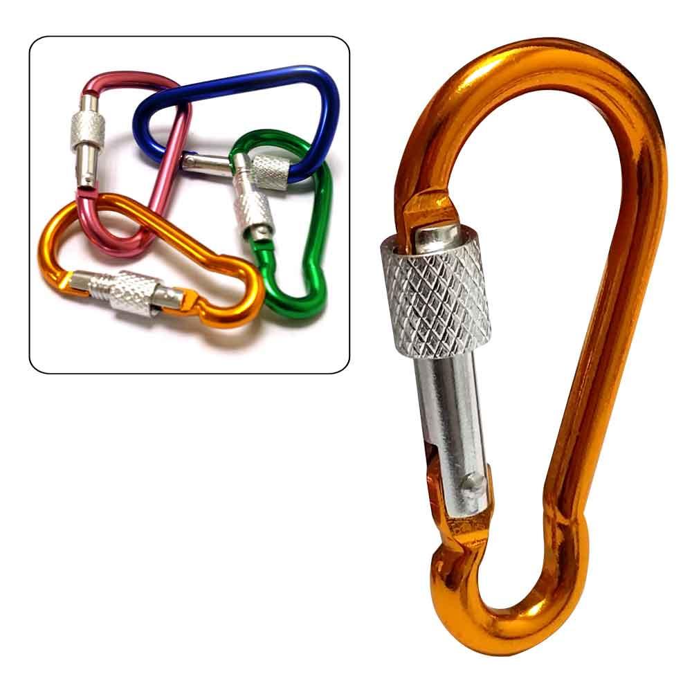 10入加鎖扣D型環鑰匙圈相機包吊飾掛勾D字扣環背包扣扣環