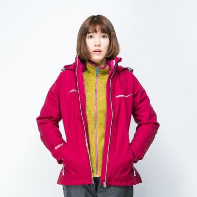 歐都納 GORE-TEX 女款防水二件式羽絨外套 A-G1529W 深紫紅