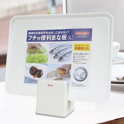 【特惠組】日本製造ASVEL奈米銀抗菌斜面砧板(L)+刀具砧板架