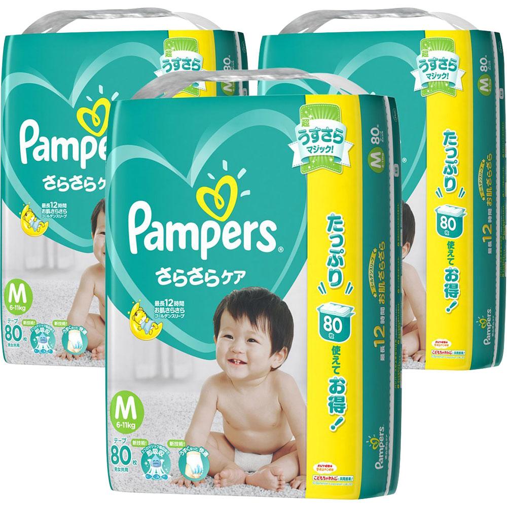 幫寶適 巧虎限定紙尿褲 境內增量量販版 M 80片x3包/箱