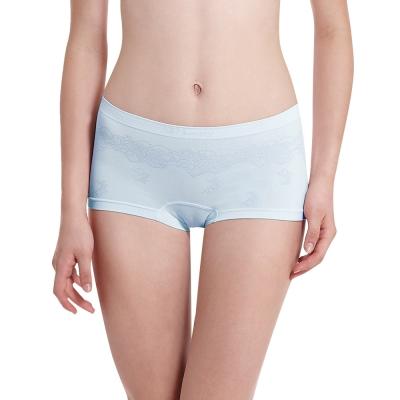 LADY 超彈力親膚無痕系列 中腰平口內褲 (藍色)